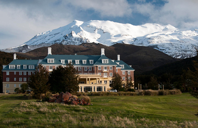 Visit Tongariro National Park and stay in the Grand Chateau