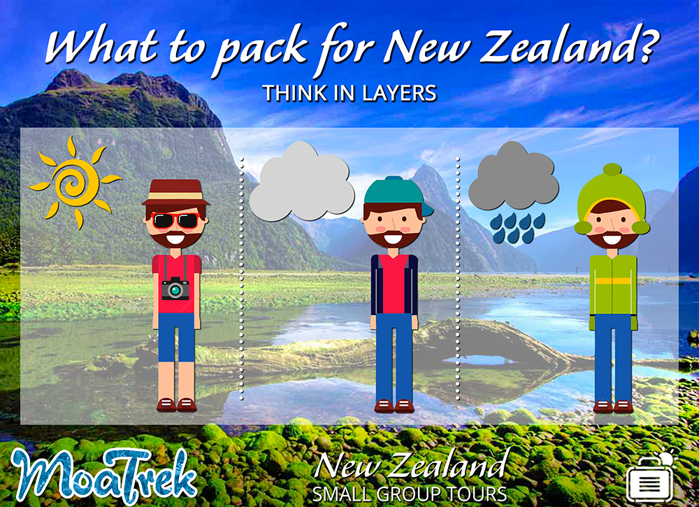 Clothing layers for New Zealand travel
