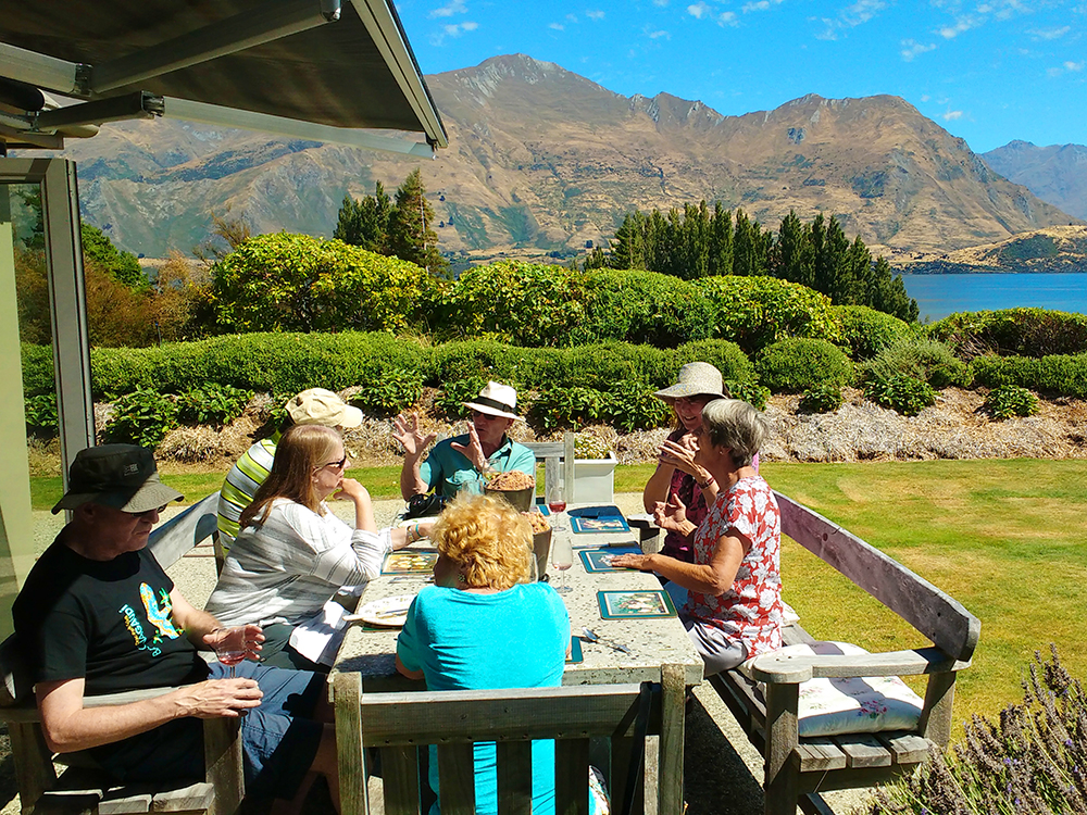 Outdoor dining in Lake Wanaka, New Zealand