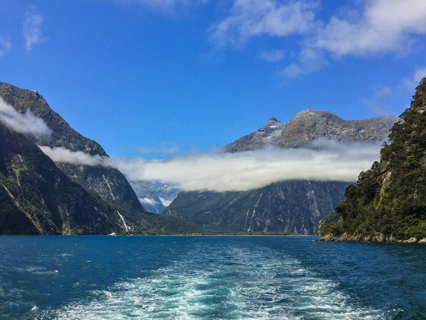 Views of Milford Sound in Fiordland National Park