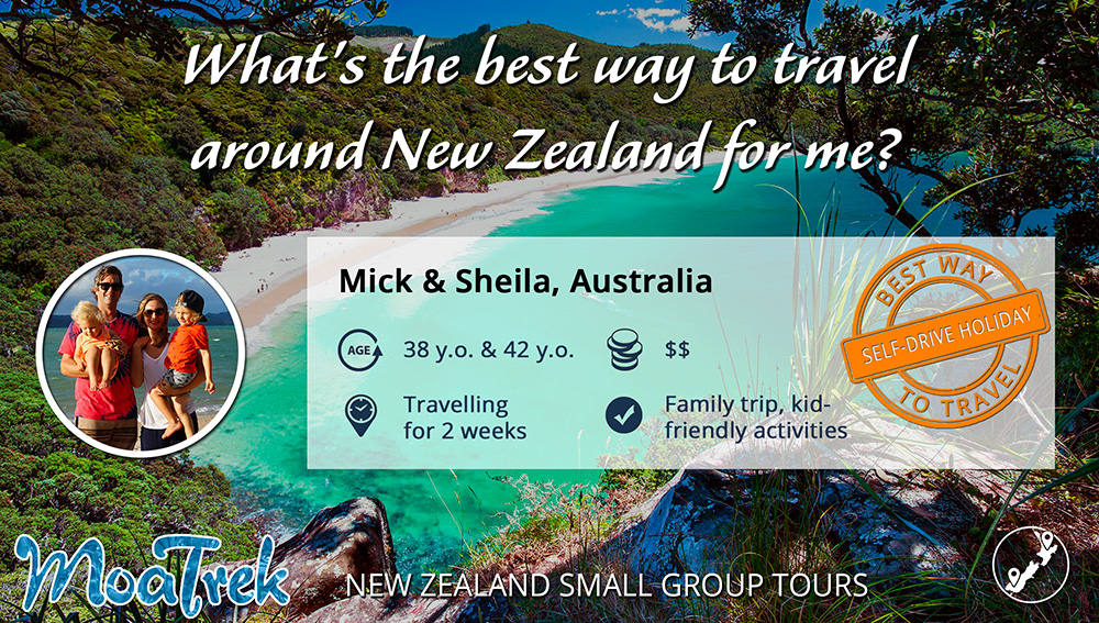 Best way to travel New Zealand infographic for family