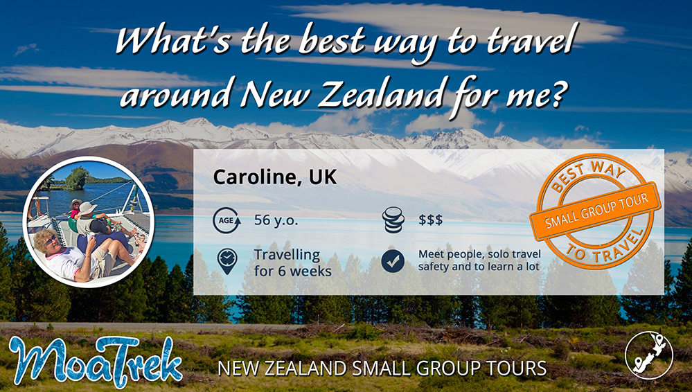 Best way to travel New Zealand infographic for single UK female traveller