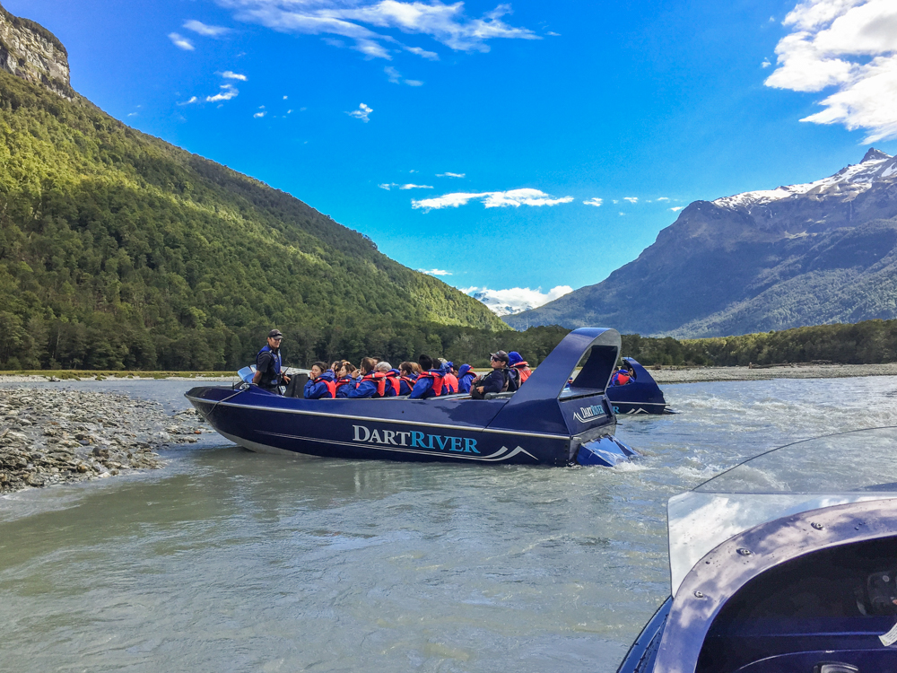 Jetboats on the Dart River near Queenstown