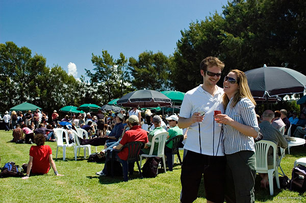 Couple enjoying the Toast Martinborough Wine Festival - Scott Venning