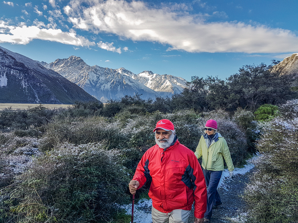 Walkers in Mt Cook National Park