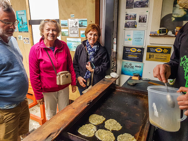 Fresh whitebait fritters on the West Coast - cash only!