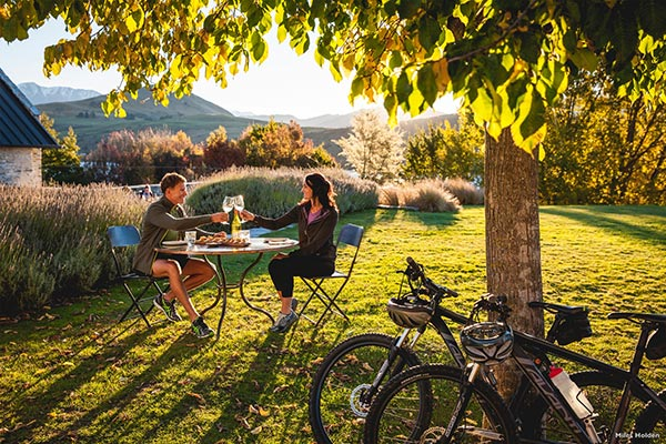 Wine tasting by bike on the Queenstown Trails - Miles Holden