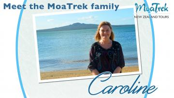 Caroline from MoaTrek on the beach in Auckland