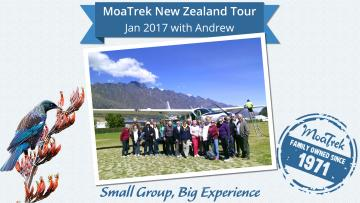 Back at Queenstown aiport after the Milford Sound flight - MoaTrek Tour Gallery Jan Feb 2017
