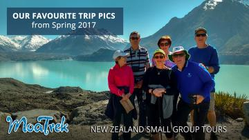 MoaTrek tour group at the Tasman Glacier Lake