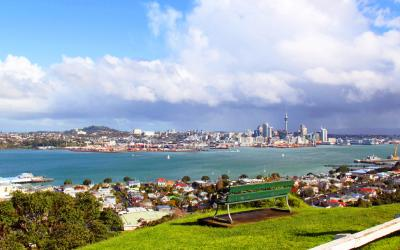Stunning view over Auckland city