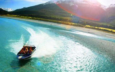 Dart River Jet Boat wilderness experience ride with amazing scenic view, Queenstown