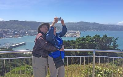 Selfie at the Mt Victoria Lookout - Wellington New Zealand