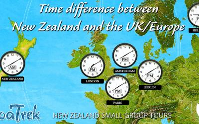 Time differences between New Zealand and the UK & Europe