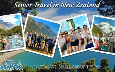 Images of senior travel in New Zealand