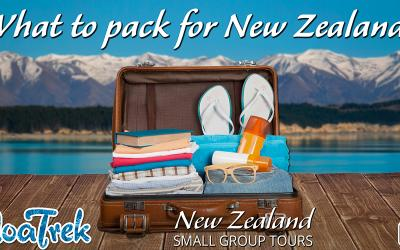 Examples of what to pack for your New Zealand trip