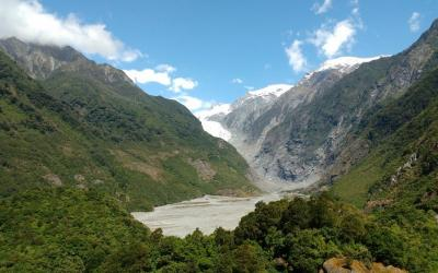 Views of Franz Josef Glacier Valley