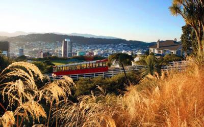 Wellington Cable Car and views - NZ Tour both islands