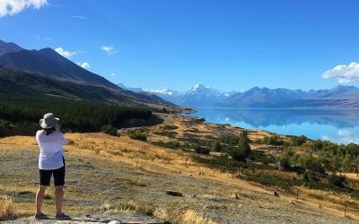 Mt Cook from the shores of Lake Pukaki