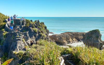 Tasman Sea views at the Punakaiki Pancake Rocks