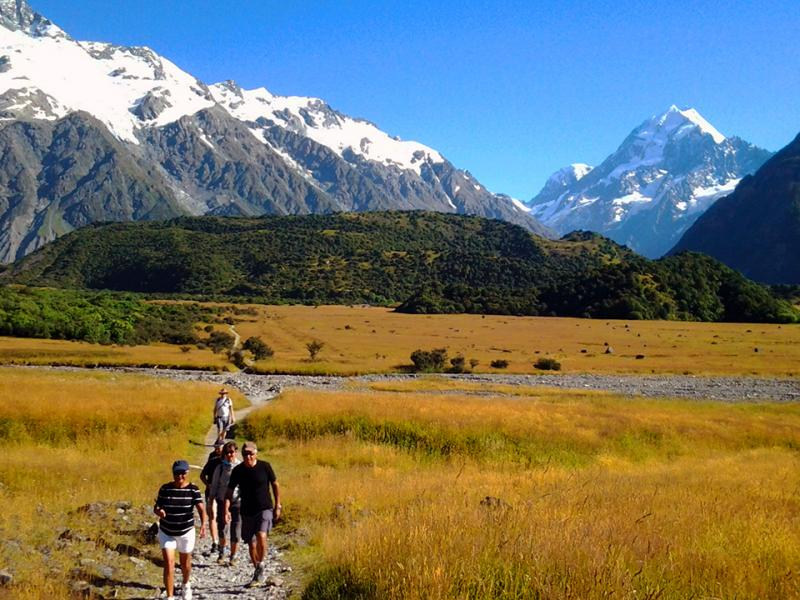 Walking at Mt Cook - Short walks around NZ