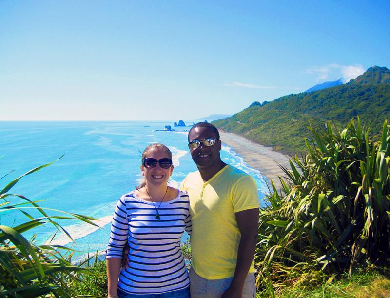 Happy couple on the West Coast - NZ South Island Itinerary