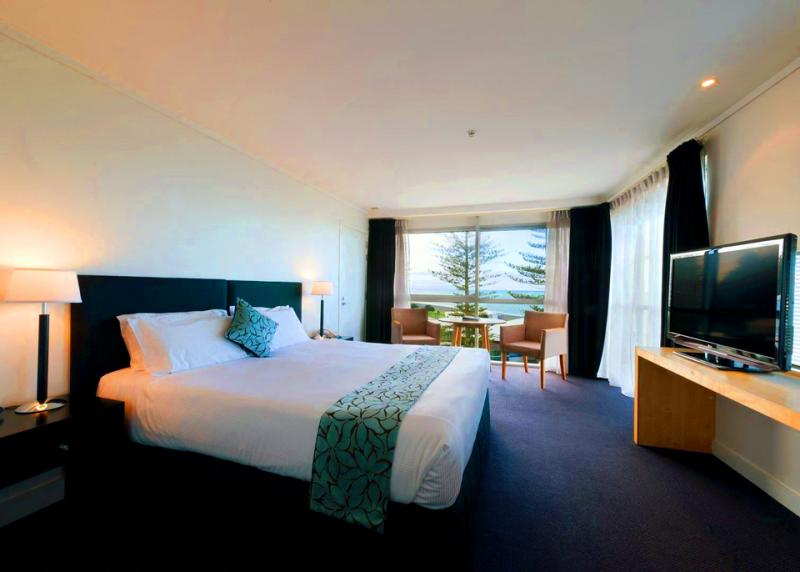 Rooms with a view at the Te Pania Hotel Napier - MoaTrek Tour Accommodation