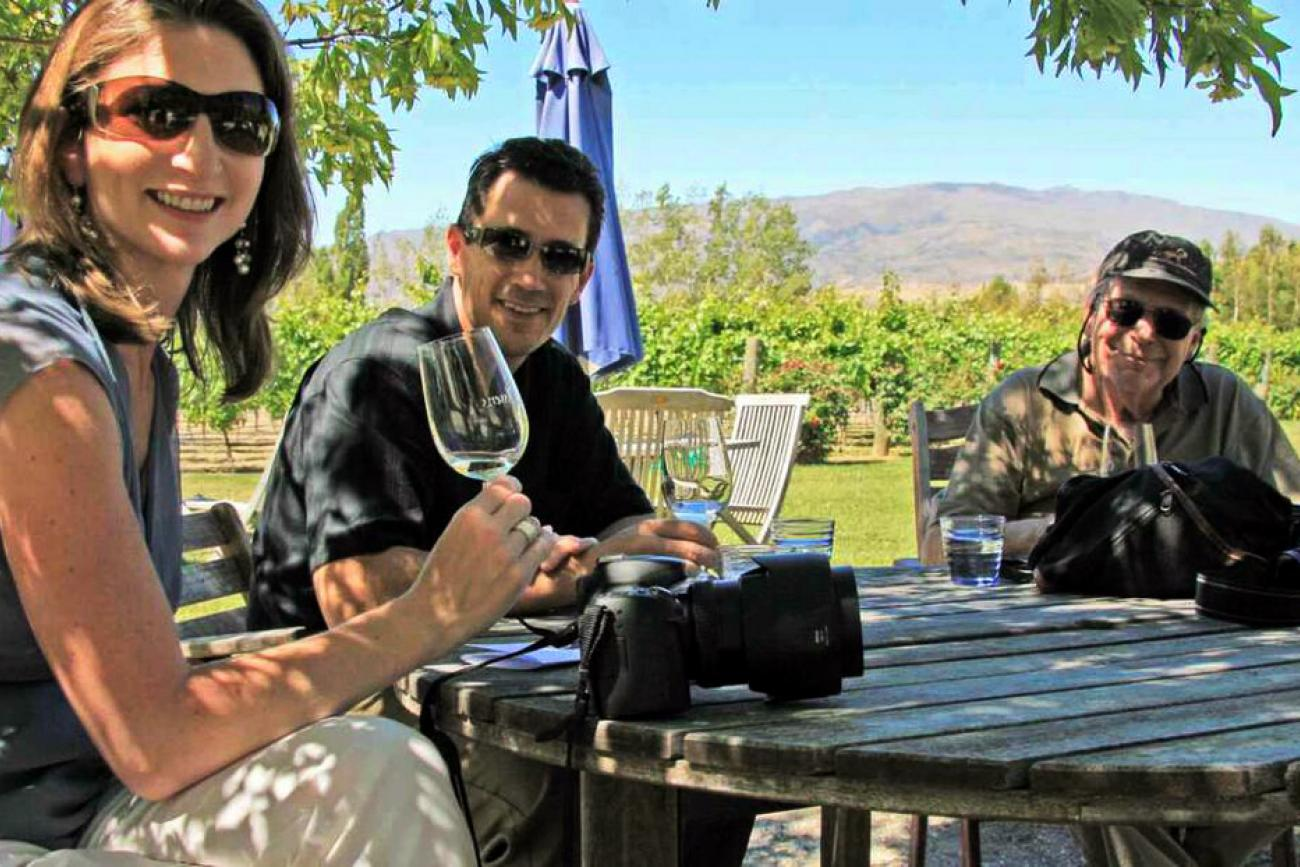 tasting wine in Queenstown