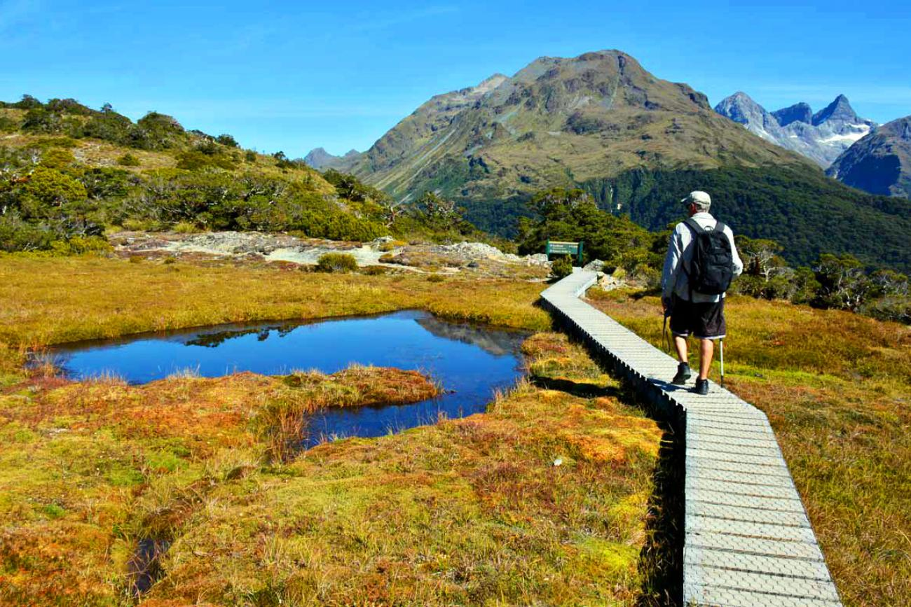 Hiking the beautiful Routeburn track, Queenstown