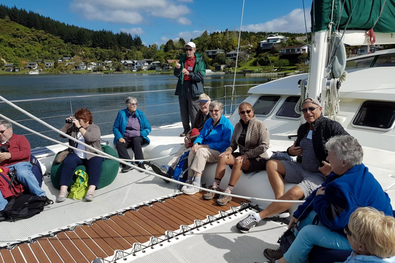 Sailing on Lake Rotoiti