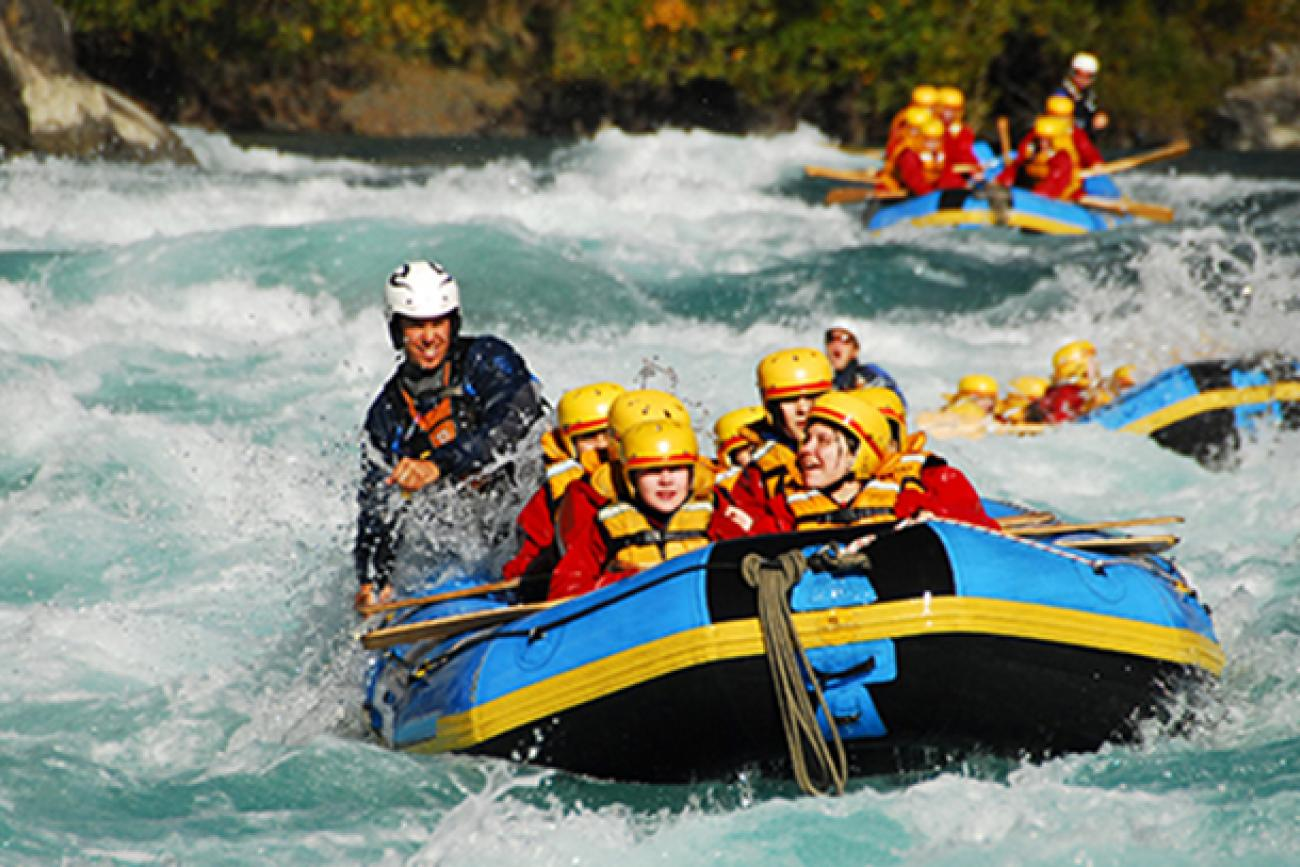 Rafting on the Kawarau River near Queenstown