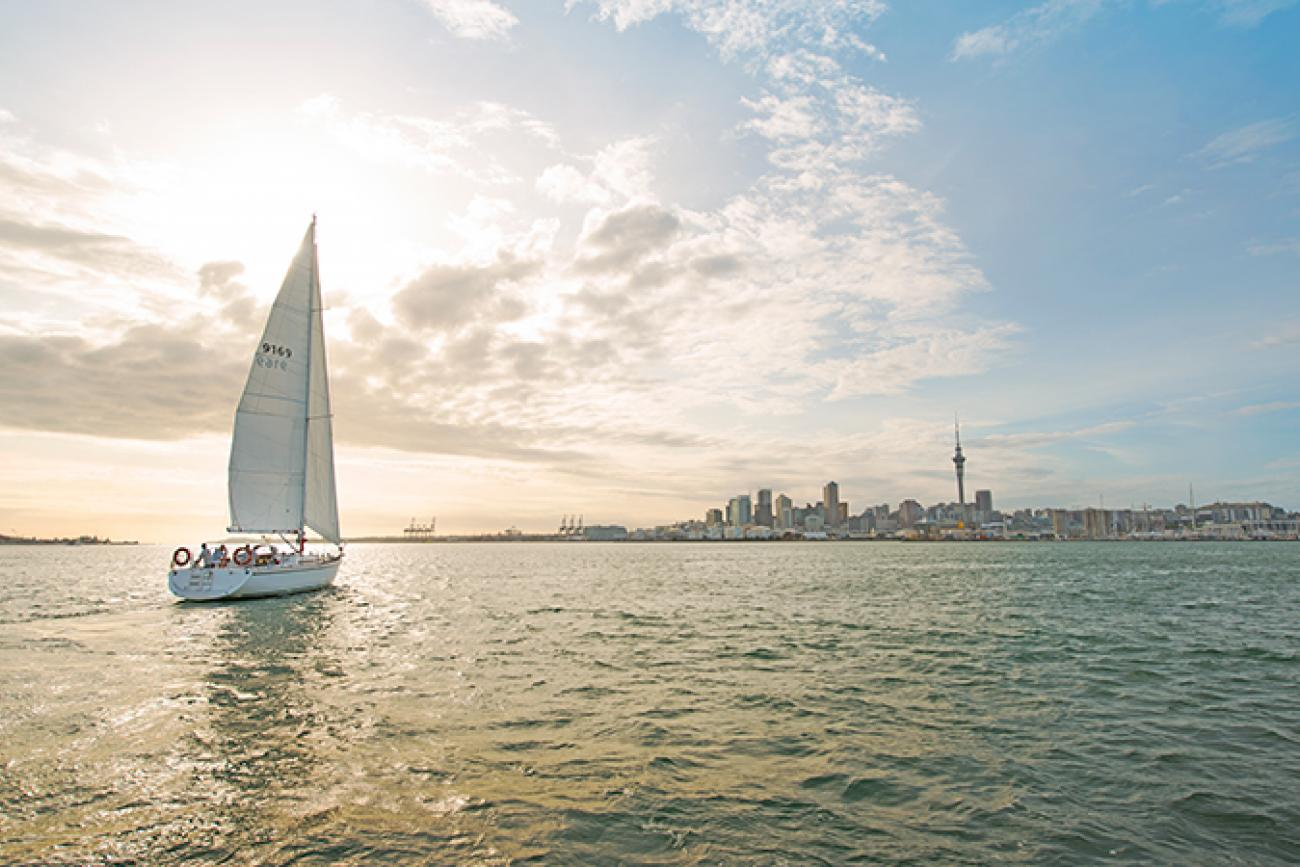 Yachting at sunset, Auckland Harbour - NZ 3 week itinerary