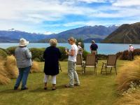 Photos from the lawn, lakeside lunch in Wanaka - MoaTrek Tour Gallery Dec 2016