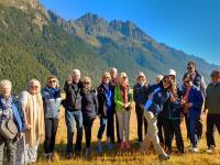 Happy team in Eglington Valley, Milford Road- MoaTrek Tour Gallery