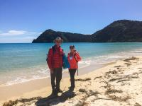 Walking in the beautiful Abel Tasman National Park