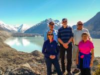 Blue Lakes Tasman Glacier Lake Walk Group Guests