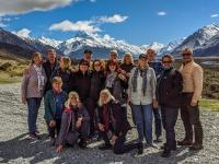 MoaTrek group at the Mt Cook lookout