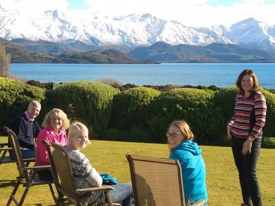 Sunshine in the garden, Lake Wanaka