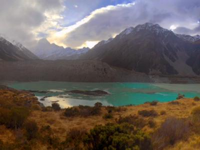 Stunning colours and clouds, Mount Cook National Park