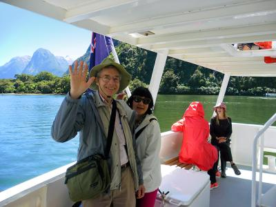Couple cruising on Milford Sound - MoaTrek