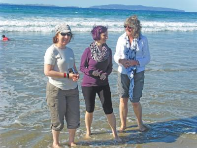 Small Group New Zealand Tours Beach