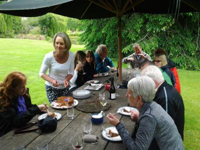 A private lunch hosted by local kiwis on a mid-Canterbury farm