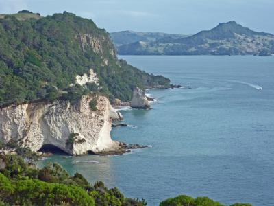 View of Cathedral Cove from the look out point