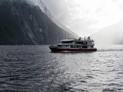 Cruising famous Milford Sound with MoaTrek
