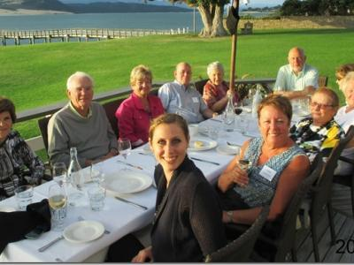 Small Group New Zealand Tours Omapere Dinner