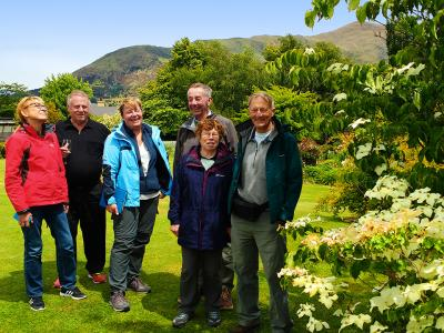 Walking in the garden after lunch in Wanaka - MoaTrek Tour Gallery
