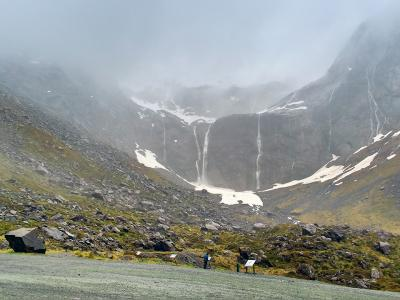 Misty mountains on the Milford Road - - MoaTrek Tour Gallery