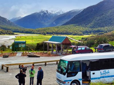 Breaktime in Mt Aspiring National Park - MoaTrek Tour Gallery