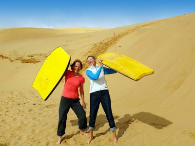 Sandboarding fun in Hokianga - MoaTrek Tour Gallery