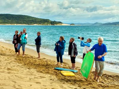 All the team on the Hokianga Beach - MoaTrek Tour Gallery